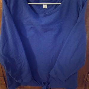 Old Navy relaxed tie front mariner top